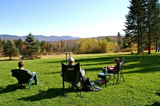 Robert Frost Mountain Cabins : Relaxing on property