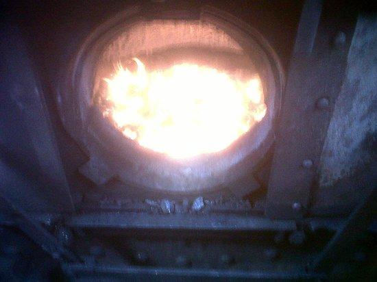 Stephenson Railway Museum: Good fire!