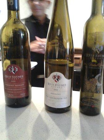 Reif Estate Winery: Vinhos deliciosos!