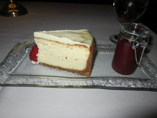 The Chesterfield Palm Beach: We ALWAYS have the Cheesecake for dessert!