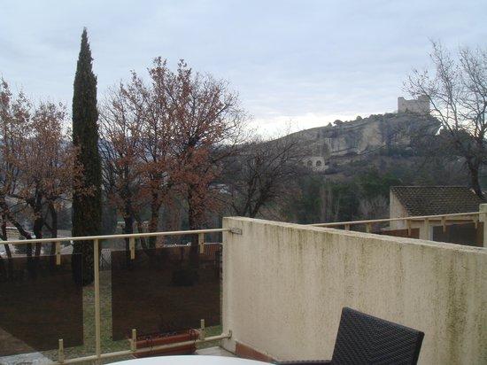 Hotel Le Logis du Chateau : vue de la terrasse
