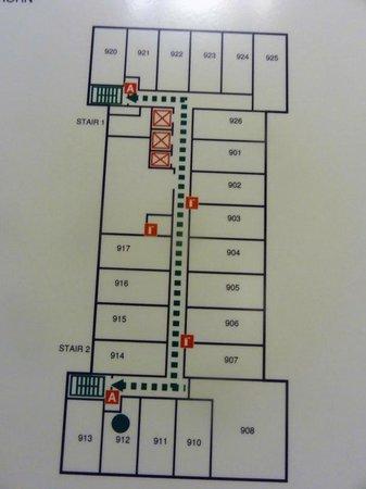 Sheraton Pittsburgh Airport Hotel : Floor plan