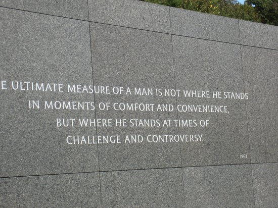 Martin Luther King, Jr. Memorial : thought-provoking