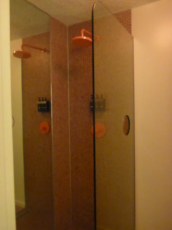 The Standard, Hollywood : Shower in funky orange