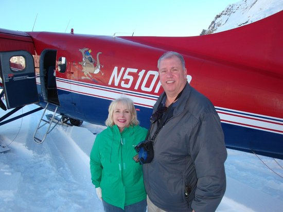 Talkeetna Air Taxi: Just landed on a glacier. The memory of this moment will last forever. Thank you Talkeetna Air.
