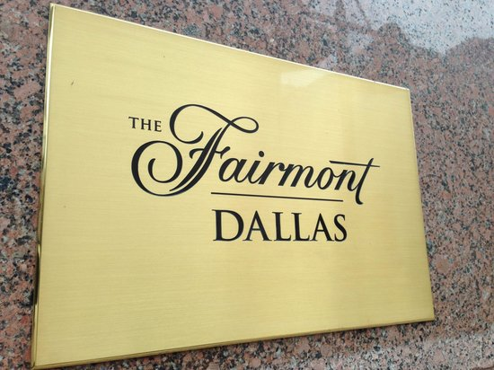 The Fairmont Dallas: We stated at the Fairmont for our anniversary.