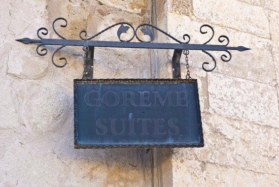 Goreme Suites: Otel Tabelası