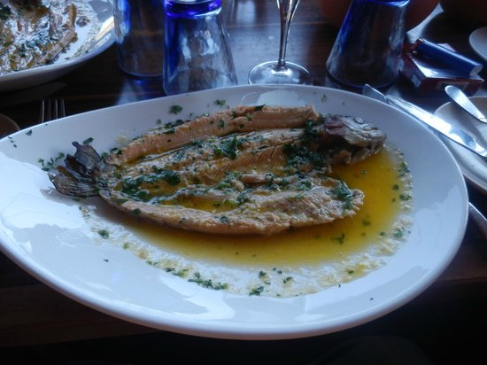 Mylos Restaurant : Trout marinated with a fantastic garlic sauce