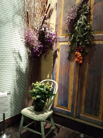Restroom at Saju Bistro
