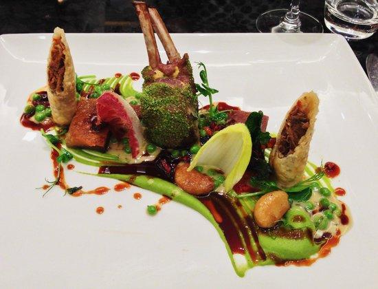 La Belle Epoque: Herb crust rack of lamb