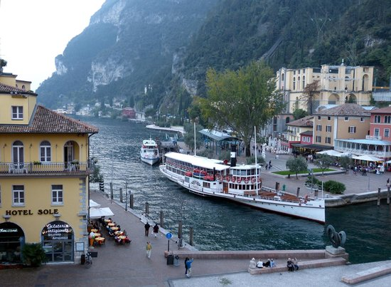 Centrale Hotel -- Riva Del Garda: View from the 4th floor, Hotel Centrale