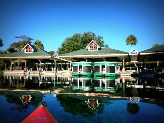 Silver Springs State Park: Paddling to the glass bottom boat launch