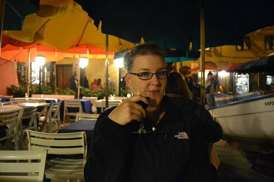 Trattoria Gianni Franzi: dining terrace in the main square of vernazza