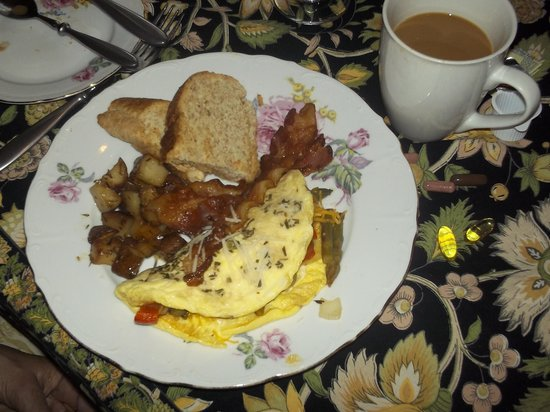 Cliff Haven Farm B&B: This is just one of the great breakfasts
