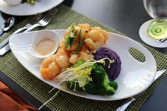 Ko Restaurant: Lavendar Honey Macadamia Shrimp