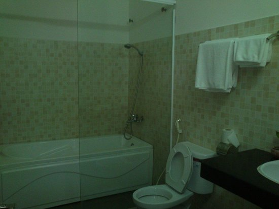 Diamond Palace Hotel: Huge space in bathroom.