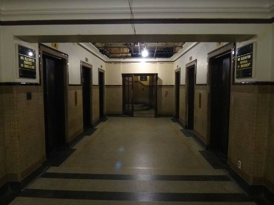 Tower Life Building: Very historic looking basement