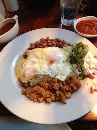 La Plazuela at La Fonda : Enchiladas del Norte