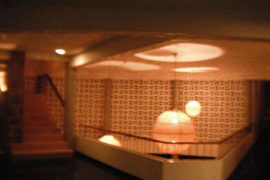Boca Chica Hotel : la iluminacion de la recepcion
