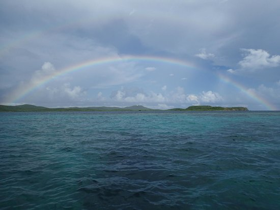 Little Boat Sailing: Double rainbow after a rain shower