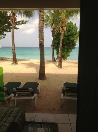 Galley Bay Beach: view from our room