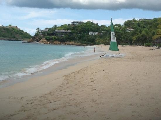 Galley Bay Beach: The beach and Armanis home