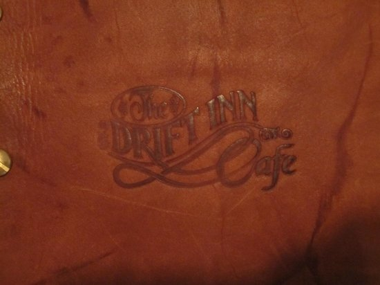 The Drift Inn: Bonded leather menu covers are timeless!