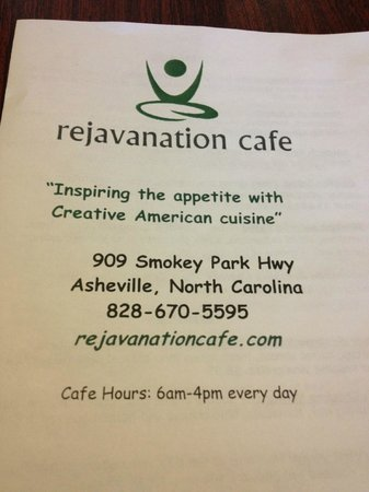 Rejavanation Cafe : Menu