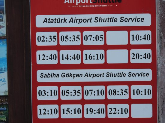 باسيليوس هوتل: Airport shuttle schedule