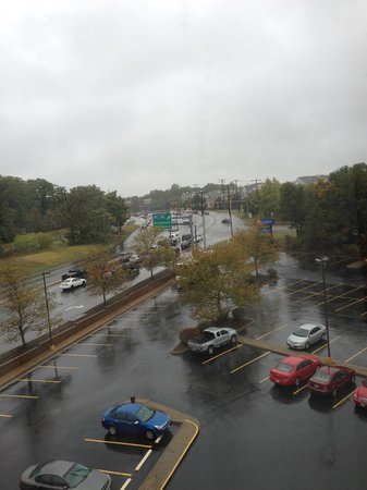 Comfort Inn & Suites Alexandria: View from 6th floor on a rainy day
