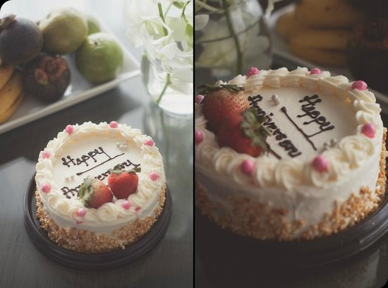 Cape Nidhra Hotel: Our Anniversary Cake