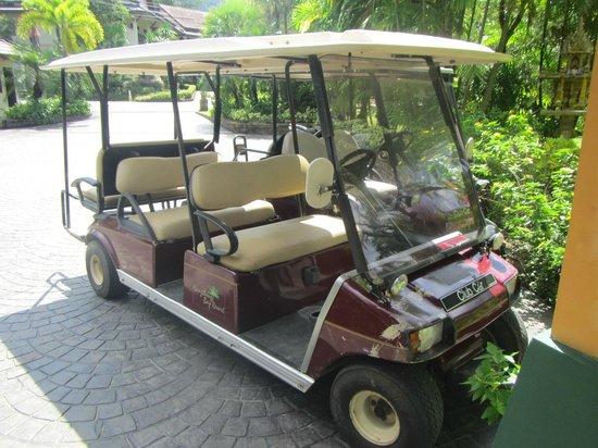 Nang Thong Bay Resort: The golf buggy