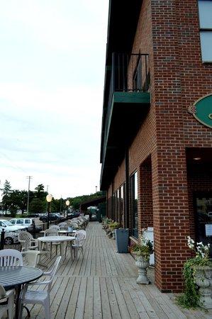 Historic Water Street Inn deck