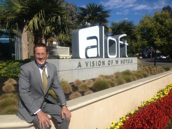 Aloft Cupertino: view from the main street  I caught Richard Quest there, from CNN's Business Traveler.
