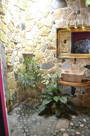 Gingerbread Hotel: Open sky bathroom!