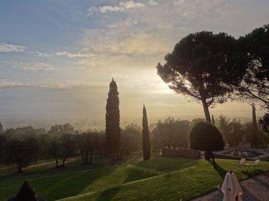 "Villa Fontelunga: Breaking dawn in Autumn from ""Avorio"""