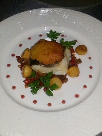 Le Soleil: cod with welsh rarebit