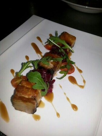 Le Soleil: belly pork with teryaki and honey dressing