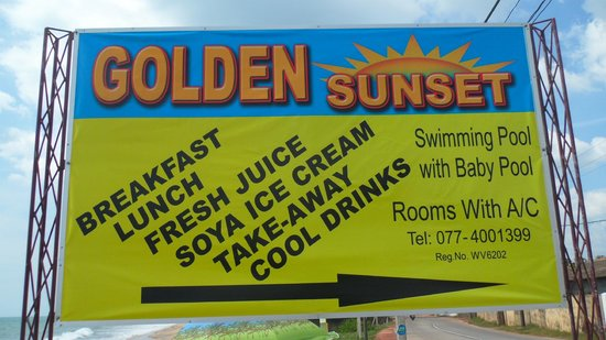 Golden Sunset: Look for the sign...