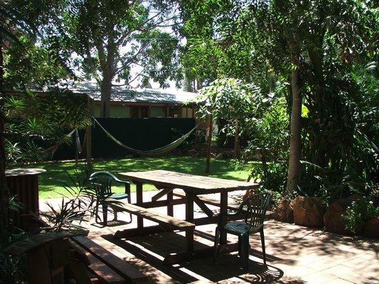 Kununurra Backpackers Adventure Centre: Relaxing Gardens