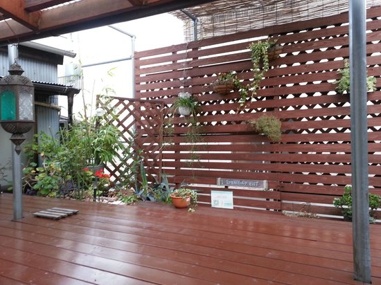 The Koenji: A deck at the top floor where you can sit and relax, and talk to some of the other guests