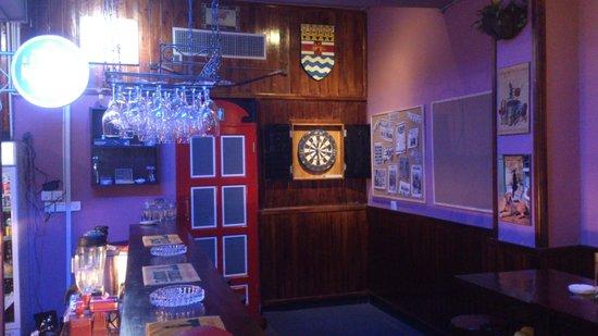 London Tavern: The Dart Board and False Telephone Box leading to the toilets.