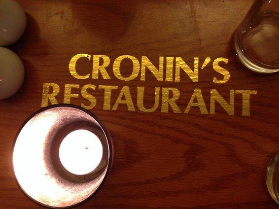 Cronins Restaurant: bonito