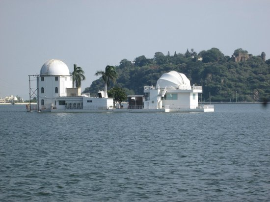 Udaipur solar Observatory from the lake shore