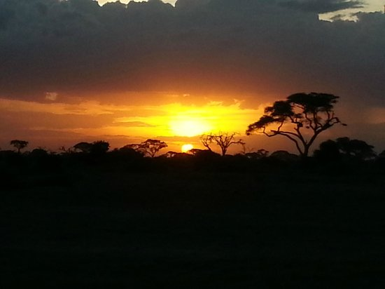 Rama's Hut - Homestay with african family : Tramonto ad Amboseli. Un ricordo indimenticabile!!!!