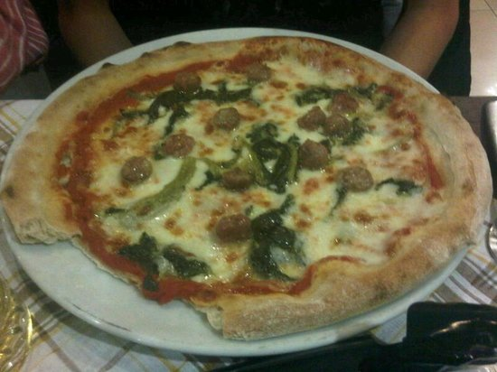 Trattoria Risorgimento : Pizza with turnip greens and sausage