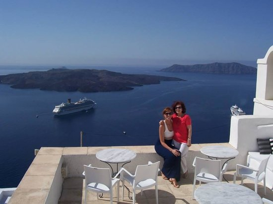 Aigialos Hotel: at the terrace