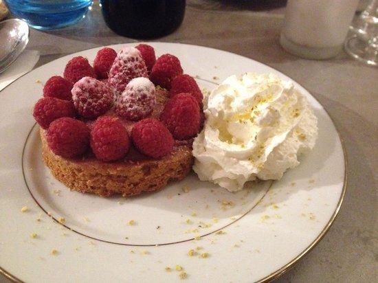 Les Templiers : Dessert tarte à la framboise
