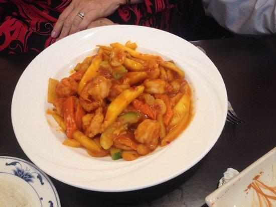 Asia Grill : Mango Shrimp & Vegetable .. Bright & Savory