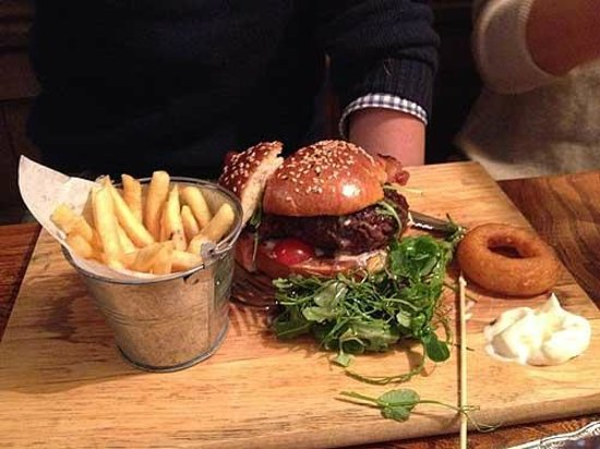 Venison burger at The Vobster Inn